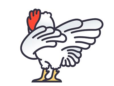 Dabbin' Rooster vector illustrator illustration