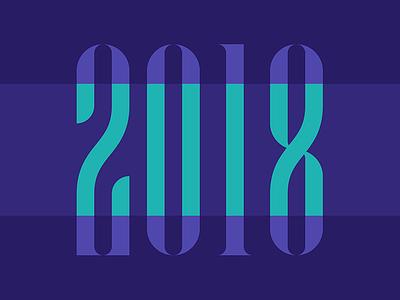 NEW YEAR 2018 2018 typographic