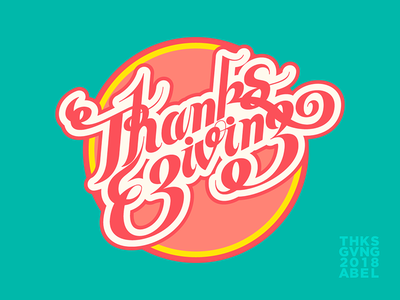 Thanksgiving 2018 -03 design typography vector illustration illustrator