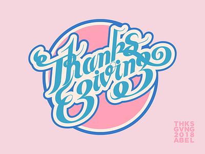 Thanksgiving 2018 -04 design vector typography illustration illustrator