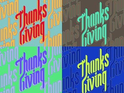 Thanksgiving2019 fypeface typography font design vector