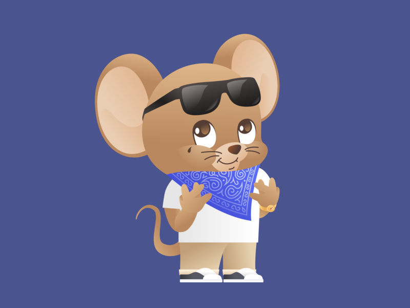 Year of the Rat 2020: The Crip Featuring. Jerry cartoon character illustration vector