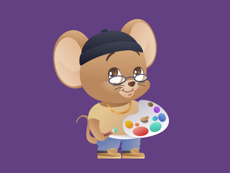 Year of the Rat 2020: The Artist Featuring. Jerry cartoon character illustration vector