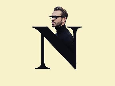 Letter N  typography vector illustration art logo design icon flat  design typogaphy typografi