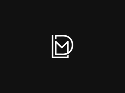 """LDM"" Logo Design Idea"