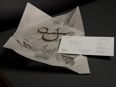 A+M Wedding invitation