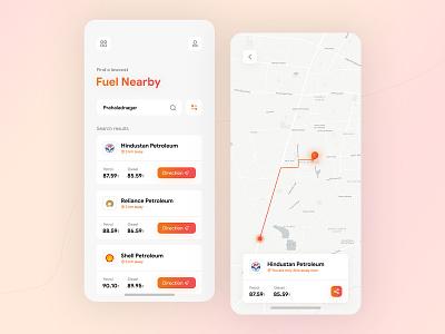 Lowcost fuel finder app app mobile design uiux uidesigner mobile app application ux mobile ui minimal