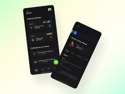 Challenge app concept to improve self mobile design apple uiux uidesigner mobile app application ux mobile ui minimal