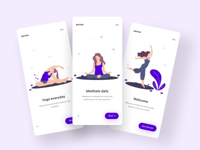 Yoga onboard screens ui design apple uiux uidesigner mobile app application ux mobile ui minimal