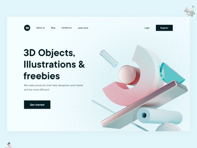 3d Resources herosection webconcept design webapp website webdesign uiux uix ui 3d hero herosection webheader minmal