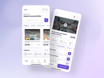 Digital courses app concept detailscreen home trends uxdesign uidesign courses design ux mobile ui mobile app application uiux uidesigner minimal