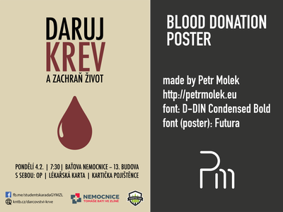 Blood Donation Poster poster vector illustration flat design