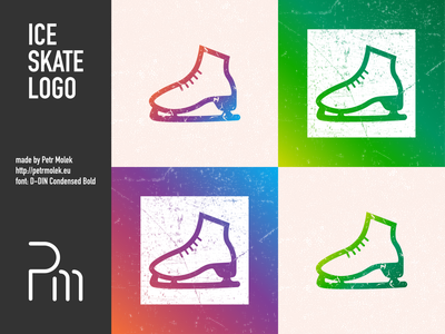 Ice Skate Logo logo icon vector illustration flat design