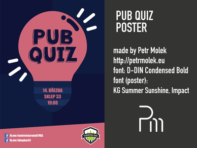 Pub Quiz Poster poster vector illustration flat design