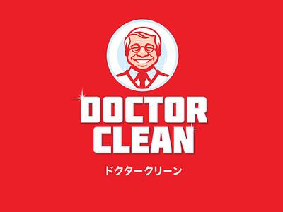 DoctorClean personaje illustration logotype