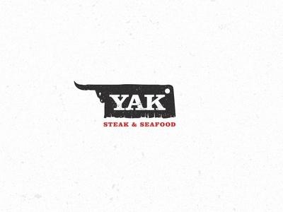 YAK steak & seafood logo logotype bishkek