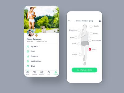TrainPro app illustration ux ui fitness app