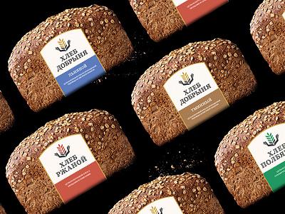 Bread Dobrinay package design packaging bishkek design illustration logotype
