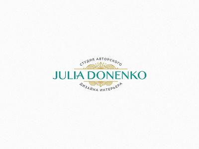 Julia Donenko interior design branding type illustration bishkek logotype logo