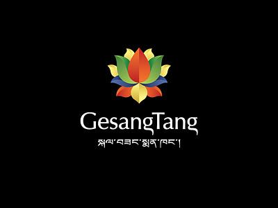 GesangTang pharmacy lotus tibet logotype logo