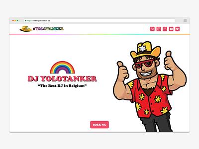 DJ Yolotanker landing page pandapanda yolo yolotanker djs digital design uidesign landing page website webdesign