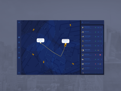 Daily UI Design Challenge #020 - Location Tracker