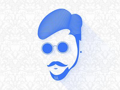 MINE blue character colors face logo illustraion colorful branding illustration design