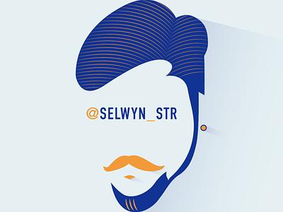 MINE eye illustration design character branding vector logo fashion id icon colors mustache face illustraion