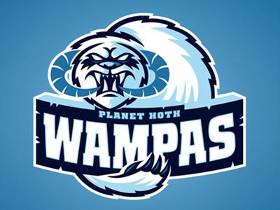 Planet Hoth Wampas star wars sci-fi space sports logo design planet hoth wampas brand