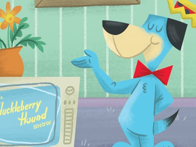 Huckleberry Hound hanna-barbera cartoons illustration photoshop digital art dog tv huckleberry hound