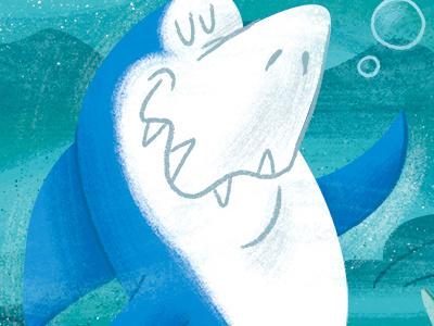 Jabberjaw hanna-barbera illustration cartoons digital art photoshop shark