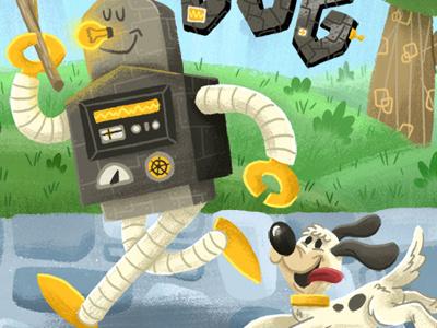 Robo & Dog robot dog illustration art design