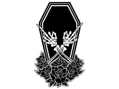 Wfs Wip black and white tattoo horror tee shirt ai wacom