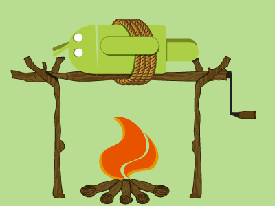 The Great Android BBQ tee shirt wip humor tech android