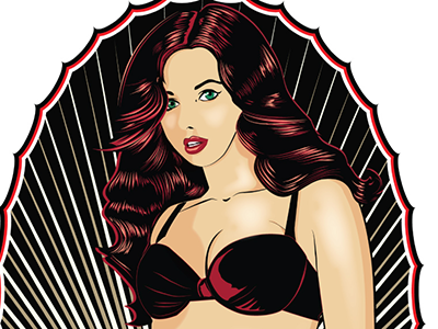 Pinup Tee shirt illustrator vector tee shirt pin up girl