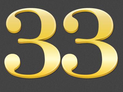 Raised Numbers 3d vector numbers