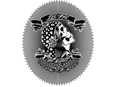 Livefast Skull skulls tattoo graphic design black and white