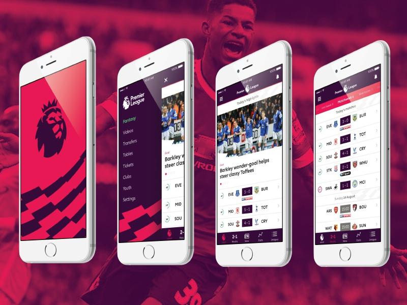 Premier League App by Kevin Lofthouse on Dribbble