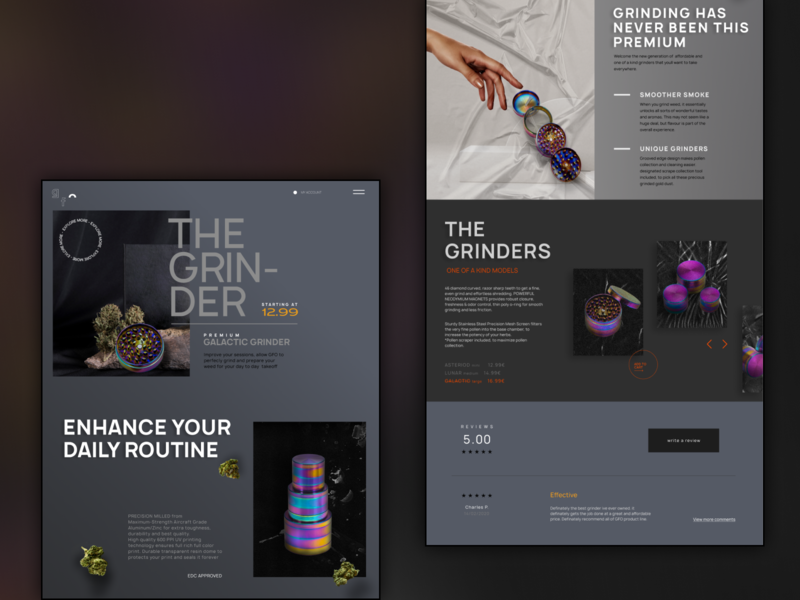 GFO - Interactive Product Website #3