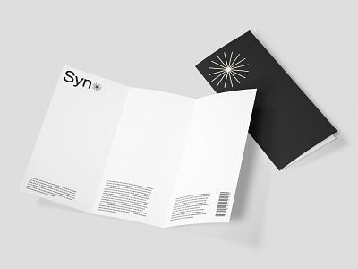 Syno - User Pamphlet mockups logo web website branding typography minimal lettering graphic design design