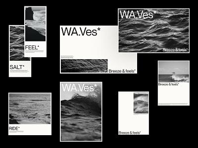 WA.Ves* - Gathered wave awwwards website web pictures design logo branding typography minimal lettering