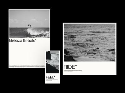 WA.Ves* - Bookmarks & Postal Cards wave awwwards mockups website branding gradient typography minimal lettering graphic design