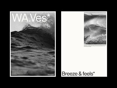 WA.Ves* - Layout Exploration wave logo web mockups illustration typography minimal lettering graphic design branding