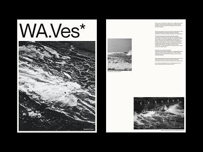 WA.Ves* - Layout Exploration | wave icon ux vector illustration branding typography minimal lettering graphic design