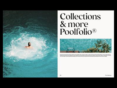 Poolfolio® - Layout Exploration website mockups design branding typography minimal web print lettering webdesign graphic design pool