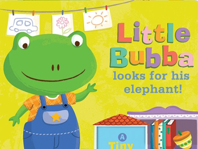 Little Bubba Looks for His Elephant! illustration vector character frog board book children
