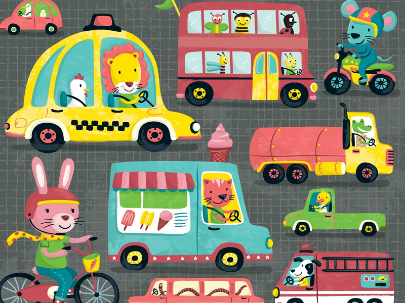 On The Road transportation animals kids puzzle toys