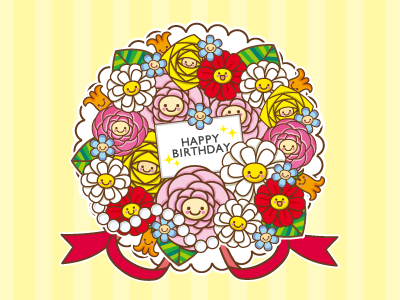 Birthday Message Card illustration character messagecard