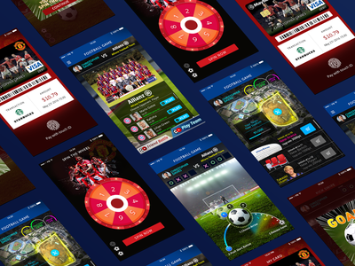Mini game App Design ui visualdesign