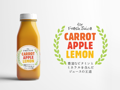 Juice Label Sticker package visualdesign